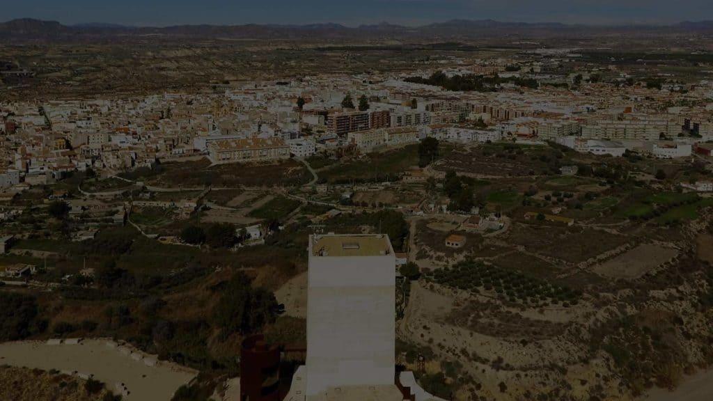 grabación con dron a vista de pájaro