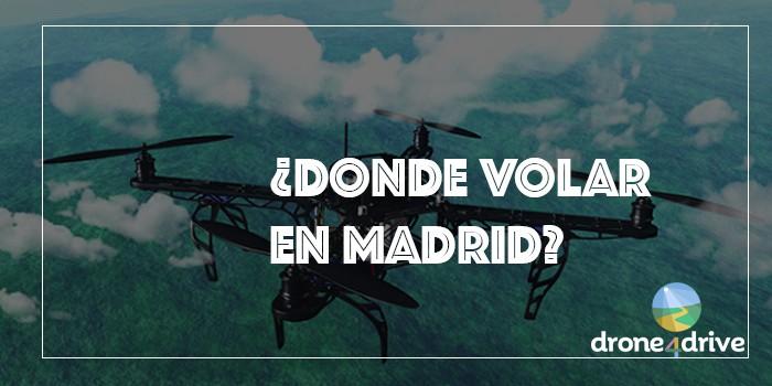 donde volar un dron en madrid