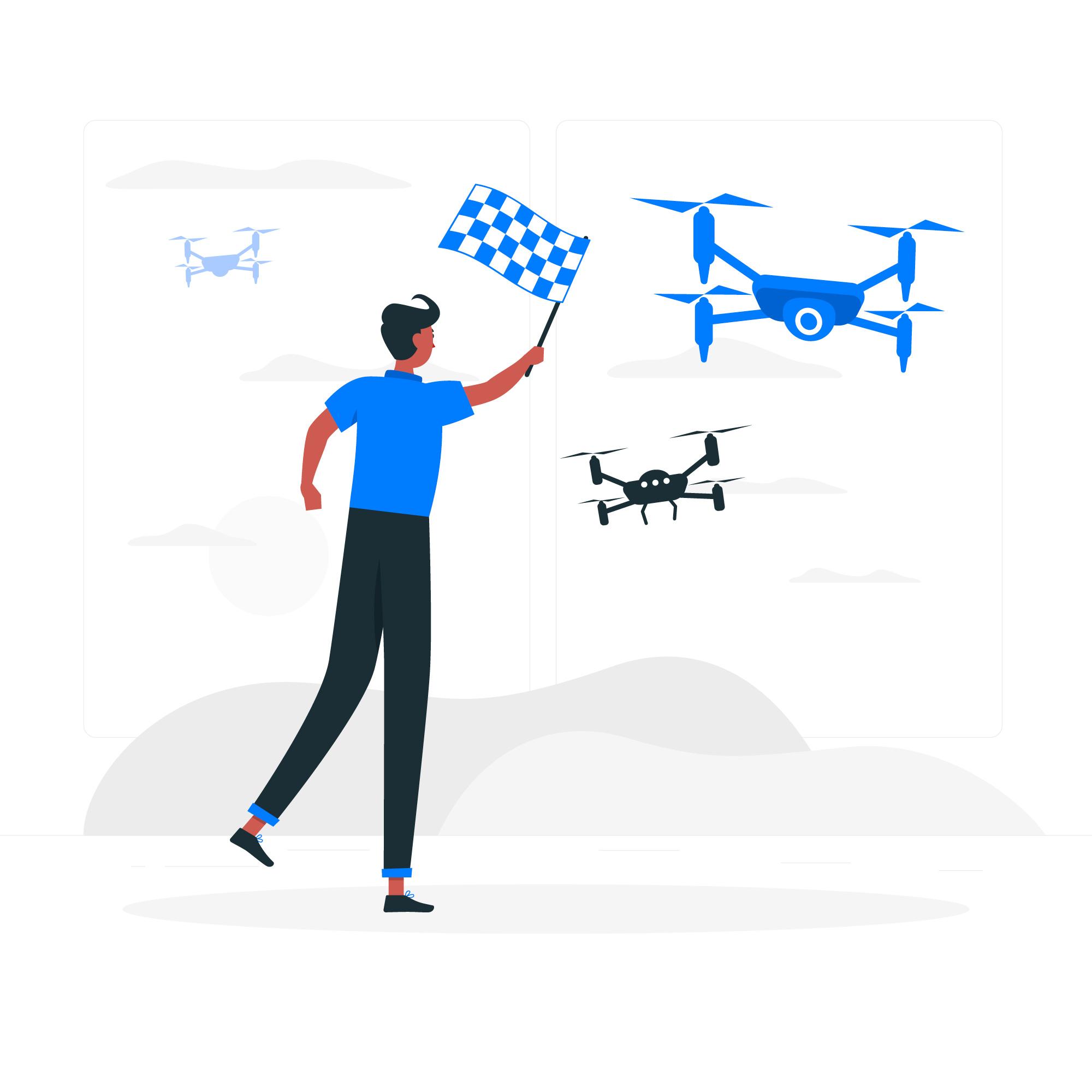llegada a meta de drones